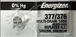 Energizer 377 Silver Watch Batteries