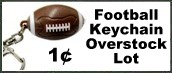 Rayovac Football Keychain for One Cent Each