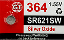 GI 364 Silver Oxide Watch Battery