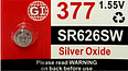 GI 377 Silver Oxide Watch Battery