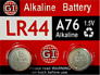 GI LR44 A76 Alkaline Battery