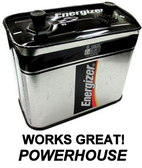 """Energizer 521S (PC918) 6 Volt Lantern Screw Top Battery """"2011"""" Date - Scratched and Dented"""