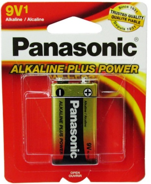 Panasonic 9 Volt Alkaline Plus Power Battery, Single Pack
