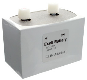 Exell 763A Alkaline 22.5V, NEDA 710 Battery Replaces ER763