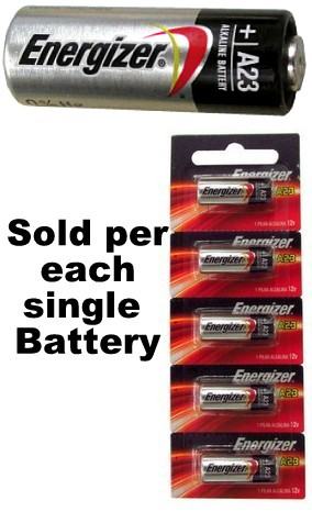 Energizer A23 12 Volt Alkaline Battery, On Tear Card