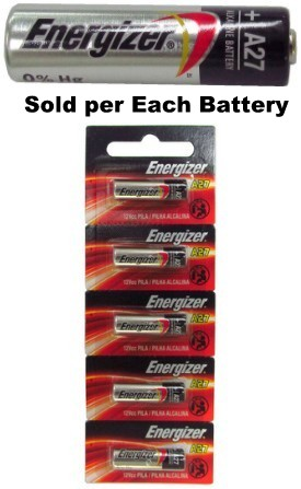 Energizer A27 12 Volt Alkaline Battery, 5 On Tear Card