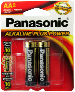 Panasonic AA Alkaline Plus Power Battery, 2 Pack AA