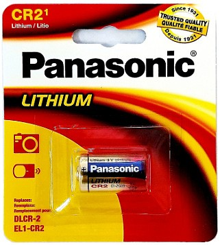 Panasonic CR2 Lithium 3 Volt Photo Power Battery Carded, Dated 2029