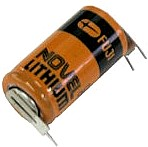 Fuji 2/3 8-L 3 Volt Lithium Battery (ER17/33 equivalent) with 2 Top Pin Tabs and 1 Bottom Pin Tabs