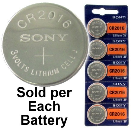 Sony CR2016 3 Volt Lithium Coin Battery On Tear Strip, Latest Bubble Raised Blister Packaging, 2026