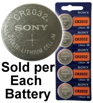 Sony CR2032 3 Volt Lithium Coin Battery On Tear Strip, Latest Bubble Raised Blister Packaging, 2028