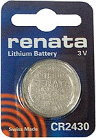 Renata CR2430.CU (CR2430) 3V Lithium Coin Battery Carded. Exp. 7-2023
