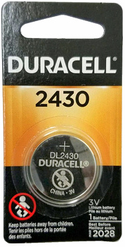 Duracell DL2430 3 Volts Lithium Coin Cell Carded
