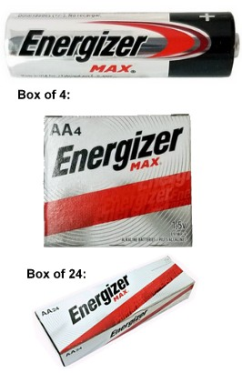 "Energizer Max E91 AA Alkaline Battery - Made in USA (Boxed) ""12-2028"" Date"