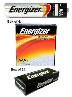 "Energizer Max E92 AAA Alkaline Battery, Made in USA - Boxed, ""12-2028"" Date AAA"