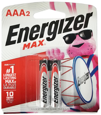 Energizer USA Max Batteries E92 AAA Alkaline Battery 2 Pack Carded AAA