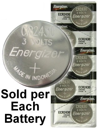 Energizer ECR2430 (CR2430) Lithium Coin Cell, On Tear Strip
