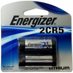 "Energizer EL2CR5 6V Volt Lithium Battery Carded ""12-2028"" Date"
