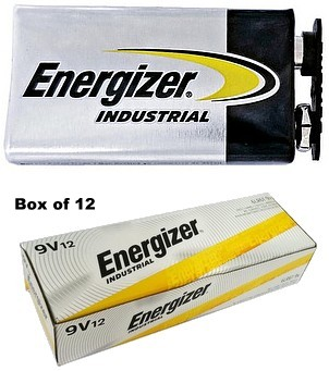 "Energizer Batteries EN22 9V Industrial Alkaline Battery (with Cap Protectors) - Malaysia ""2023"" Date"