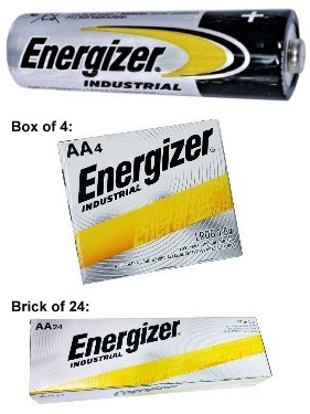 "Energizer Batteries EN91 AA Size Industrial Alkaline Battery, Boxed. Made in Singapore ""12-2028"" AA"