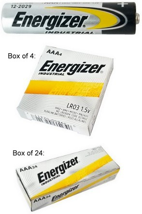 "Energizer Batteries EN92 AAA Industrial Alkaline, Boxed - Made in USA ""12-2027"" Date AAA"