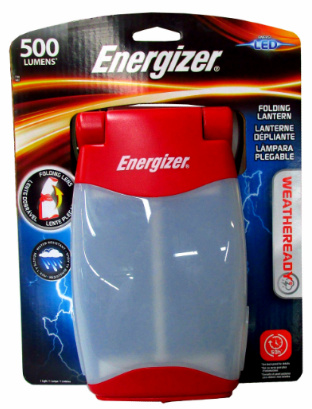 Energizer FL452WRBP Weatheready LED Folding Lantern, Uses 4D Batteries (not included)