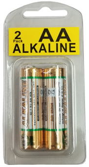 GI AA Alkaline 2 Pack, in Reusable Clamshell