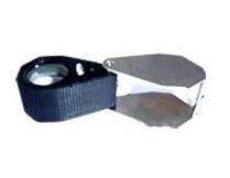Eye Loupe 20X Triplet (21MM) Chrome With One Light And Rubber Grip