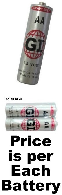 G.I. Batteries AA Size Heavy Duty Battery AA
