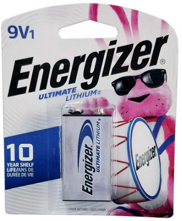 Energizer L522 9 Volt Ultimate Lithium, 1 Carded