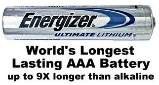 Energizer L92 Photo AAA 1.5 Volt Lithium Battery, Exp. 12-2039 - Bulk Pack AAA