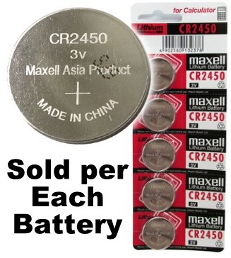 Maxell CR2450 3 Volt Lithium Coin Cell