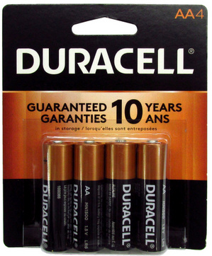 Duracell MN1500B4 AA Size Battery 4 pack USA Retail Packs AA, Exp. 3 - 2027