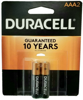 Duracell MN2400B2 AAA Size Battery 2 pk USA Retail Packs AAA, Exp. 12 - 2025