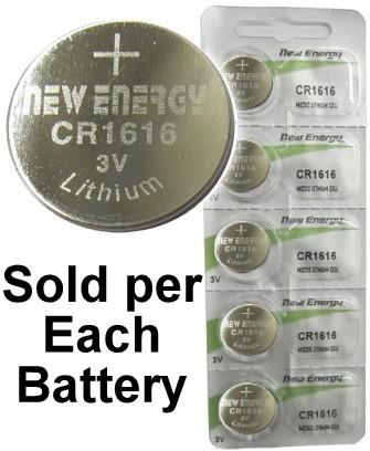 New Energy CR1616 3V Lithium Coin Cell, on Card