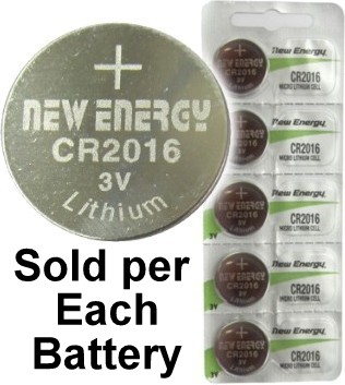 New Energy CR2016 3V Lithium Coin Cell, on Card