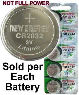 New Energy CR2032 3V Lithium Coin Cell, on Card
