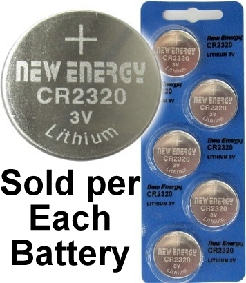 New Energy CR2320 3V Lithium Coin Cell, on Card