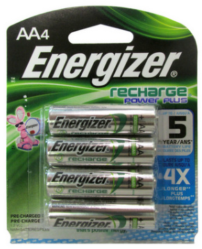 Energizer 2300mAh AA NiMH Pre-Charged Rechargeable Battery 4 pack AA