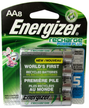 Energizer NH15 2300 mAh AA Pre-Charged Rechargeable Batteries, 8 Pack