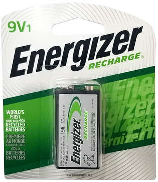 Energizer 175 mAh 9V NiMH Rechargeable Battery