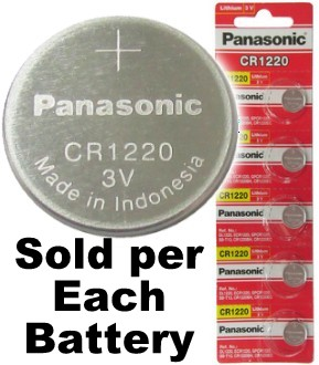 Panasonic CR1220 3 Volts Lithium Coin Battery, On Tear Strip