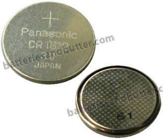Panasonic CR1612 3V Lithium Coin Size Battery, Bulk