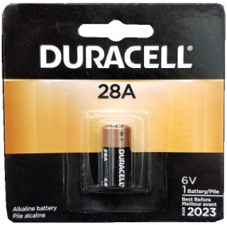 Duracell PX28A 6V Alkaline Battery, Carded