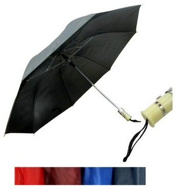 Ladies's Mini Folding Push-Button Umbrellas - Assorted Colors