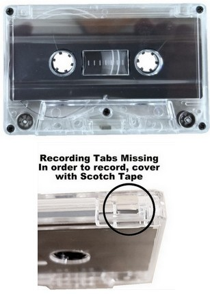 C49 Blank Audiocassette Tape - Clear
