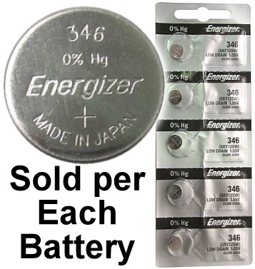 Energizer 346 (SR712SW) Silver Oxide  Watch Battery 346. On Tear Strip