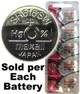Maxell Hologram SR616SW (321) Silver Oxide Watch Battery On Hologram Tear Card. Exp. 2022