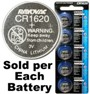 Rayovac RV1620 (CR1620) Lithium Coin Battery - On Tear Strip