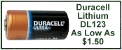 Duracell 123 Lithium Battery